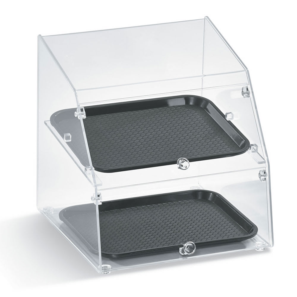 "Vollrath SBC1014-2F-06 Curved-Front Pastry Display Case -  (2)10x14"" Trays"