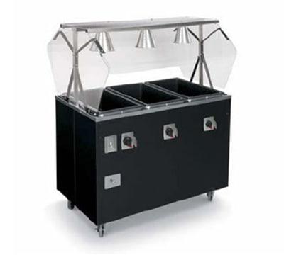Vollrath T3873060 4-Well Hot Food Station - Lights, Solid Base, Thermostat, Manifold, Granite 120v