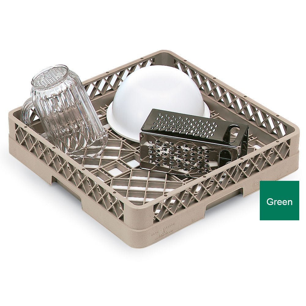 Vollrath TR-1-19 Full-Size Dishwasher Rack - Open Bottom and Sidewall, Green