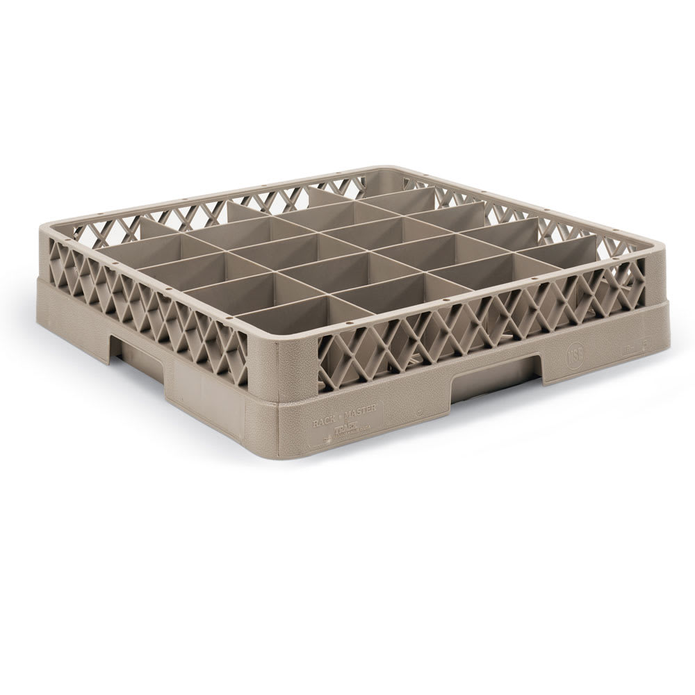 Vollrath TR5AA Full-Size Dishwasher Cup Rack - 20 Compartment, 2 Open Extenders, Beige