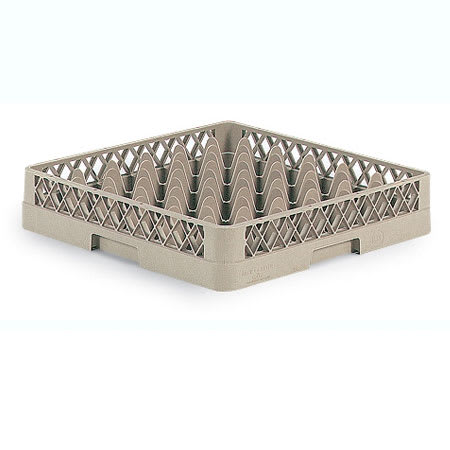 Vollrath TR7A Full-Size Glassware Rack - 36 Compartment, 1 Open Extender, Beige