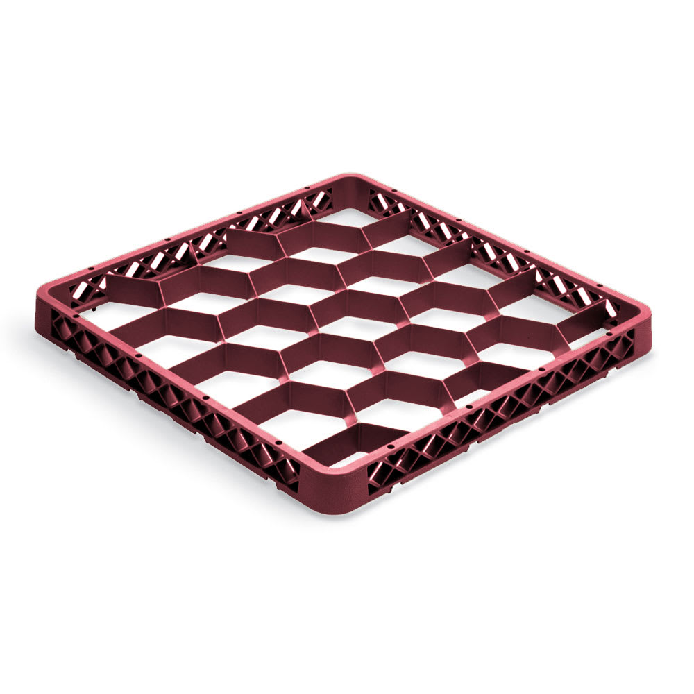 Vollrath TR-G-21 Full-Size Dishwasher Rack Extender - 20-Compartment, Burgundy