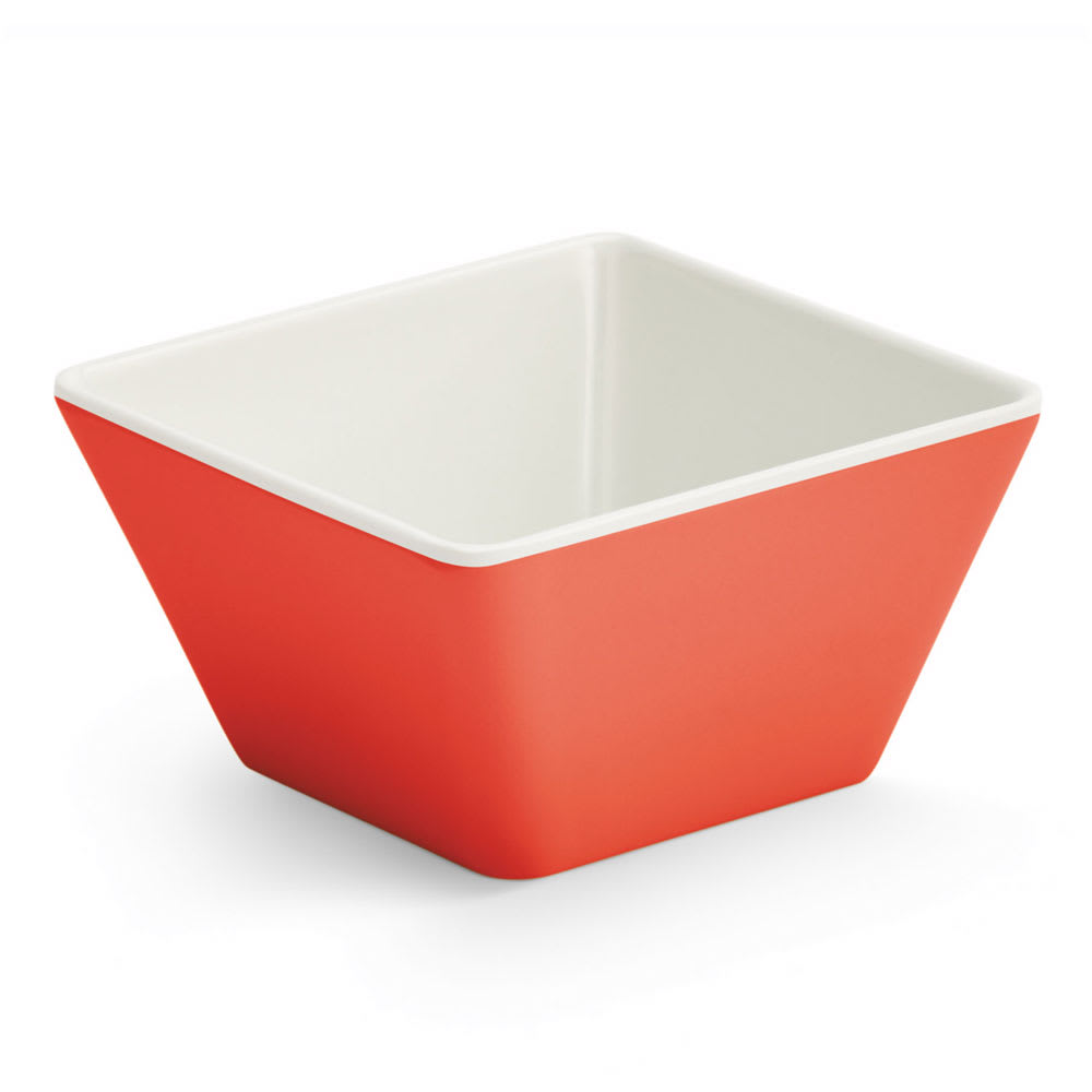 Vollrath V2220040 4-oz Square Serving Bowl - Melamine, Red