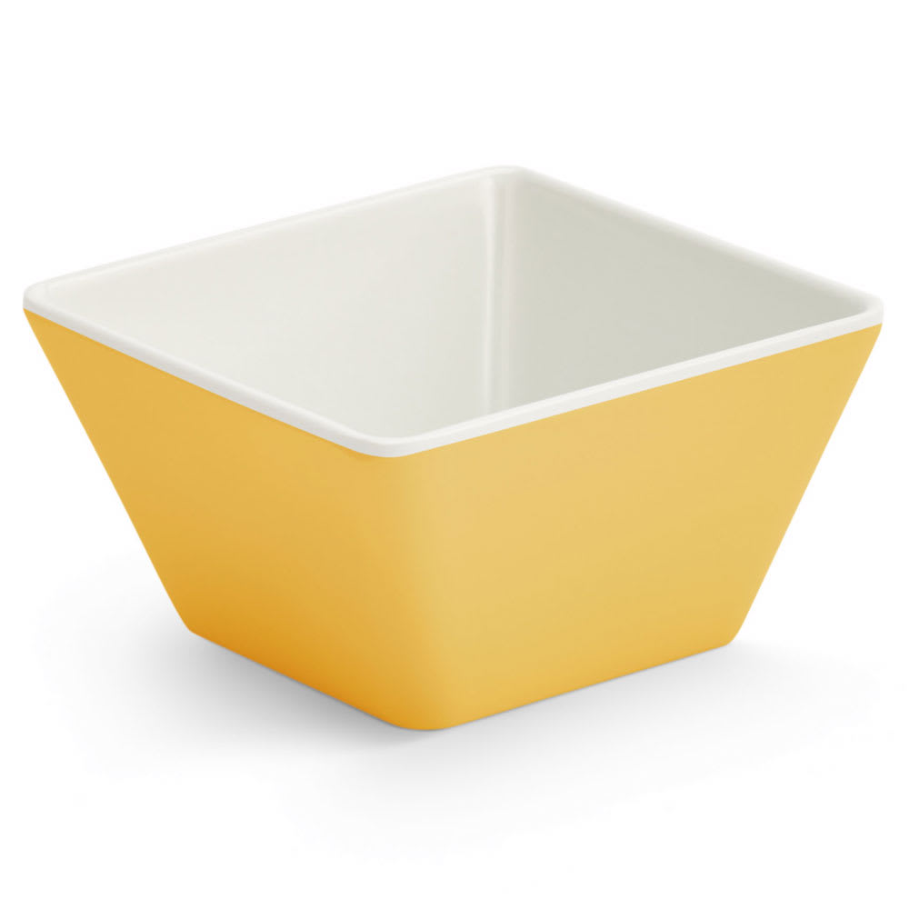 Vollrath V2220050 4-oz Square Serving Bowl - Melamine, Yellow