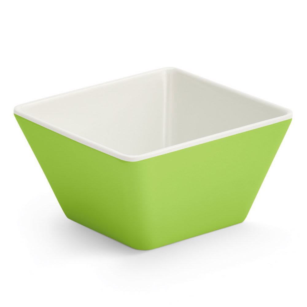Vollrath V2220070 4-oz Square Serving Bowl - Melamine, Green
