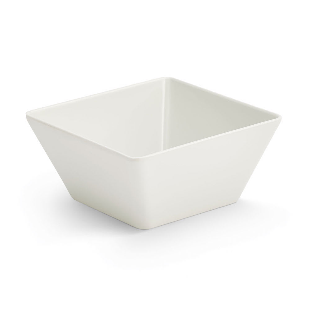 Vollrath V22202 50 oz Square Serving Bowl - Melamine, White