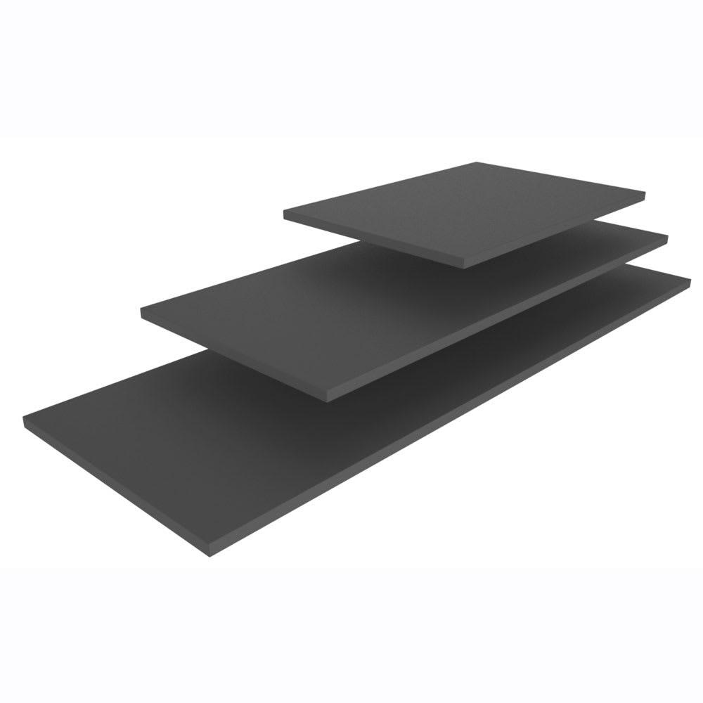 "Vollrath V904652 Rectangular Serving Board - 19.68"" x 13.75"", Wood, Black"