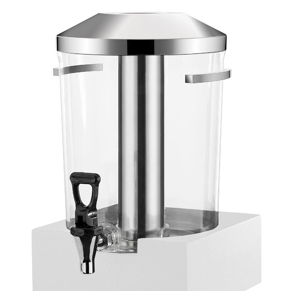 Vollrath V904800 1.69 gal Beverage Dispenser - Acrylic, Black Wood Base