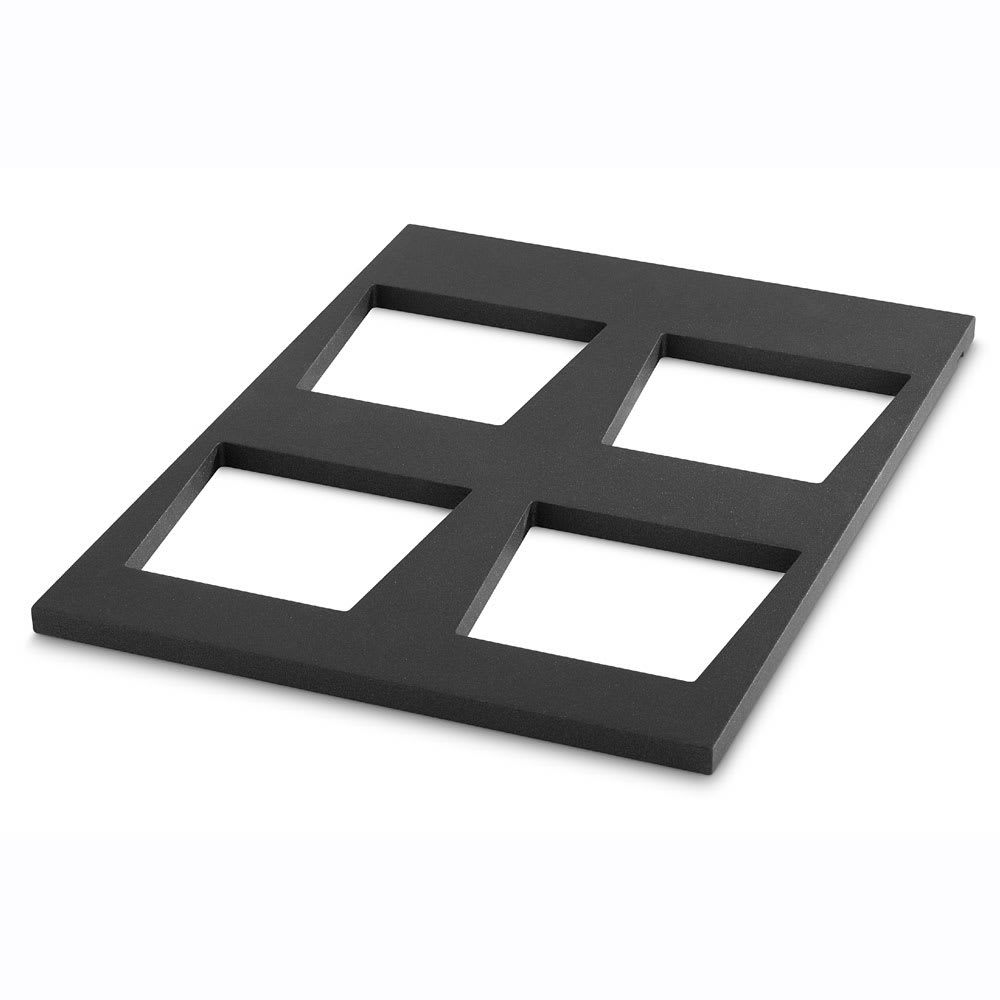 """Vollrath V904937 Display Shelf for (4) V22202 Bowls - 19.68"""" x 14.75"""", Wood, Black"""