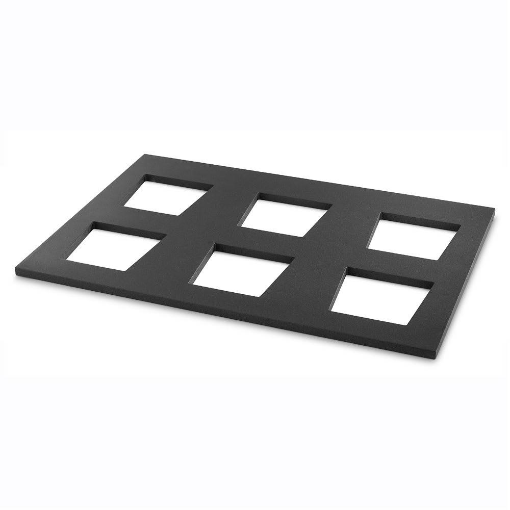 """Vollrath V904975 Display Shelf for (6) V22202 Bowls - 19.68"""" x 29.5"""", Wood, Black"""