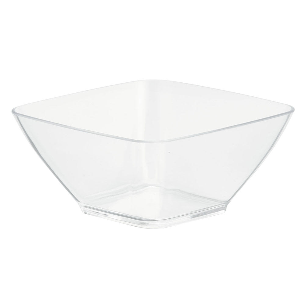 Vollrath V928001 20 oz Square Serving Bowl - Acrylic, Clear