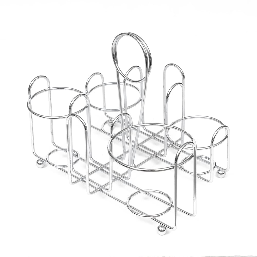 "Vollrath WR-1000 Wire Rack Condiment Caddy - 8x6x5 1/2"" Chrome"