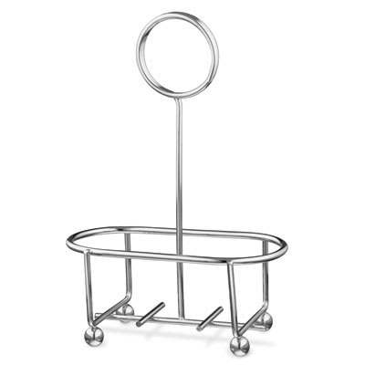 "Vollrath WR-1003 Wire Rack Condiment Caddy - 4 3/8x2 3/8x6"" Chrome"
