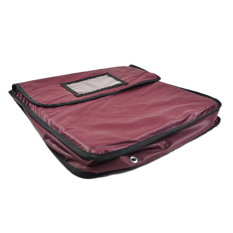 Intedge IPK-4 W Pizza Delivery Pouch - 20 x 20 x 5 - Burgundy