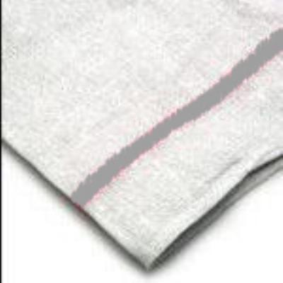 Intedge 312SP Towel Herringbone, 16 in x19 in, 100% Cotton, White with Stripe