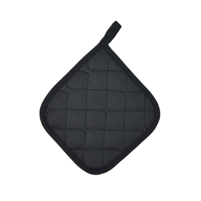 "Intedge 315 BLK Poly Cotton Pot Holder, 8 x 8"", Black"