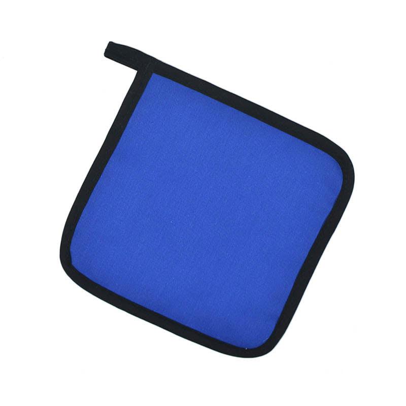 """Intedge 315 BLU Poly Cotton Pot Holder, 8 x 8"""", Royal Blue"""