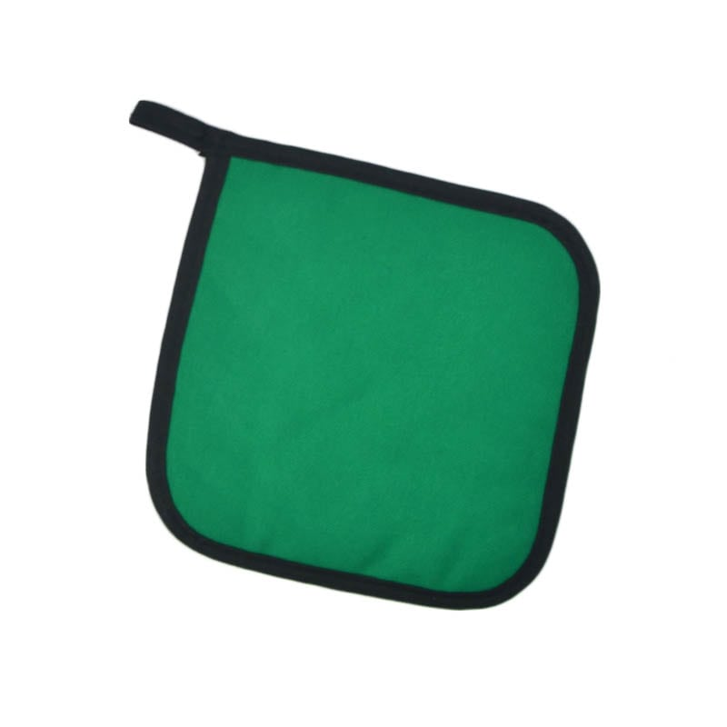 "Intedge 315 G Poly Cotton Pot Holder, 8 x 8"", Green"