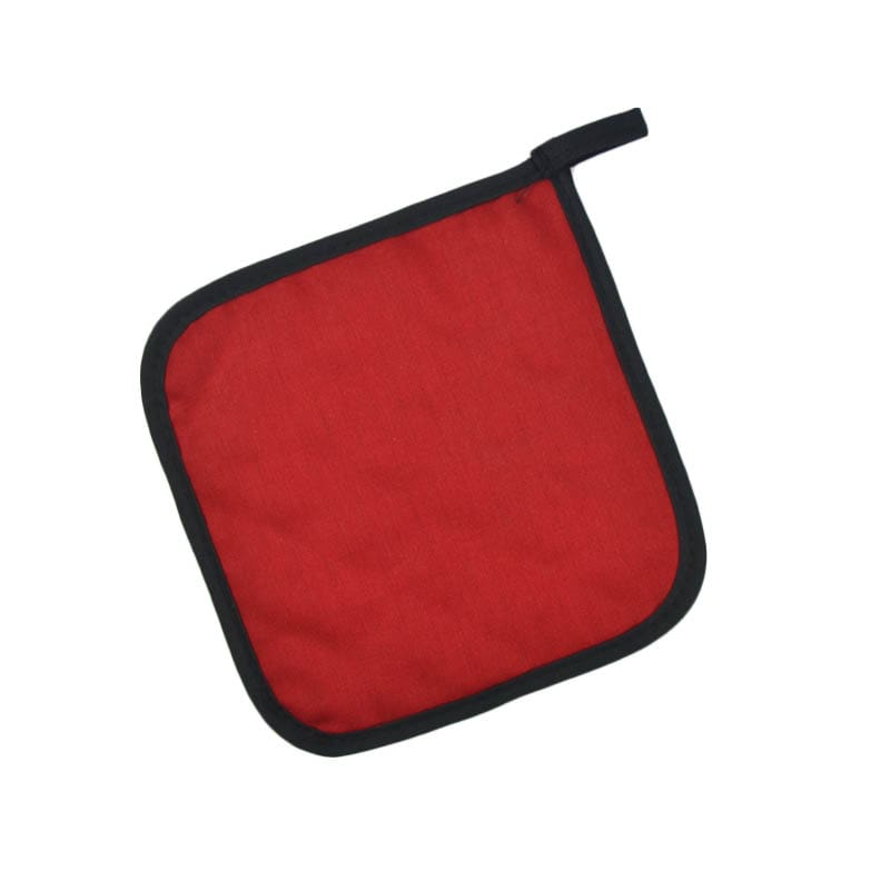 "Intedge 315 R Poly Cotton Pot Holder, 8 x 8"", Red"