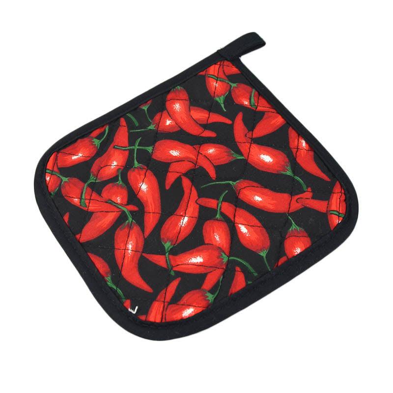 "Intedge 317CH Pot Holder, 7"" X 7 in, Chili Pepper Design"