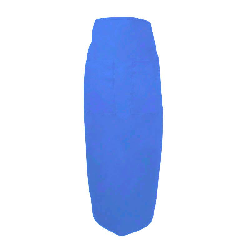 """Intedge 334 BLU Bistro Apron w/ 2-Pockets, 38 x 33.5"""", Royal Blue"""