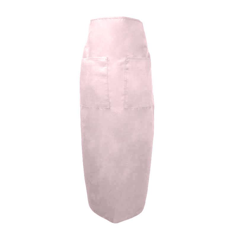 "Intedge 334 LP Bistro Apron w/ 2-Pockets, 38 x 33.5"", Light Pink"