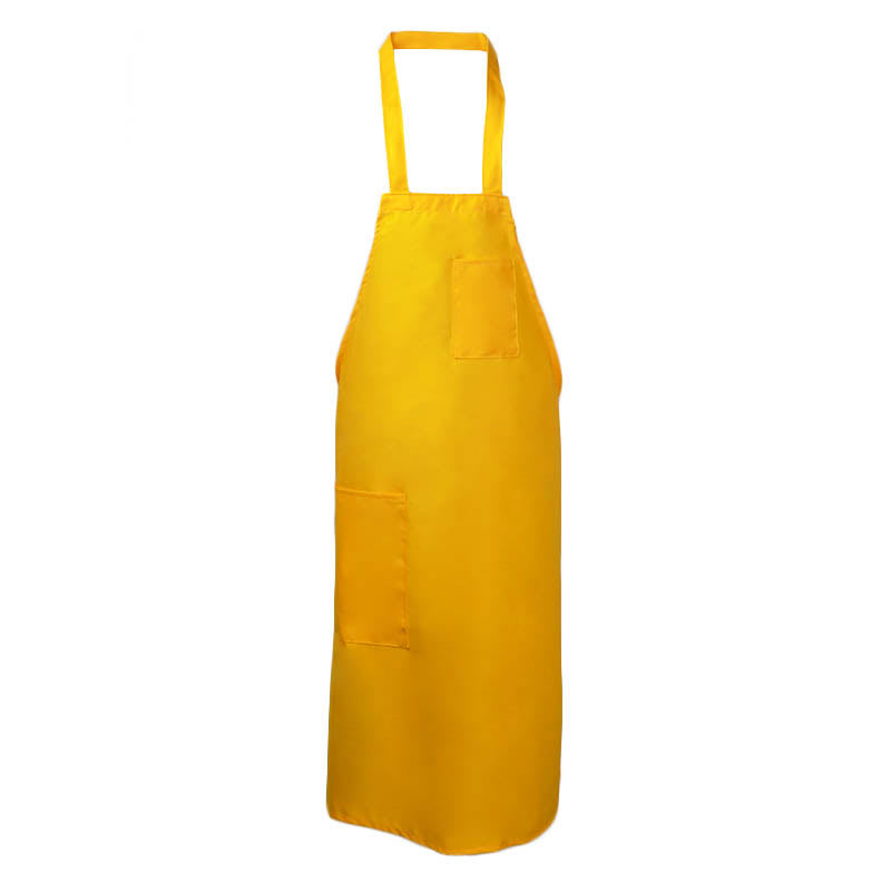"Intedge 335 GO Bib Apron w/ Matching Tie, 32 x 28"", Hip Pen Pocket, Gold"