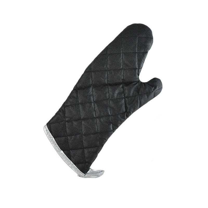 "Intedge 336C-13 13"" Charcoal Fire Retardant Oven Mitt, Black"
