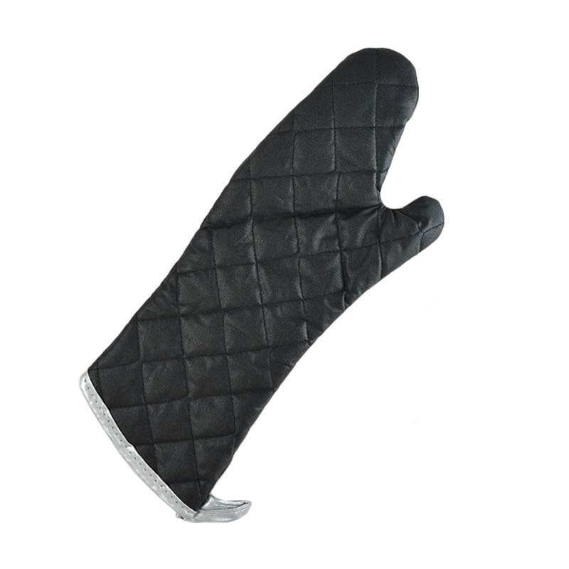 "Intedge 336C-15 15"" Charcoal Fire Retardant Oven Mitt, Black"