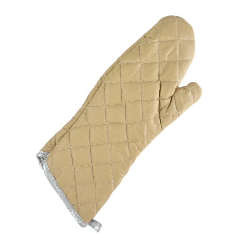 Intedge 33817 Oven Mitt, 17 in, Teflon Coated, Beige, Flame Retardant