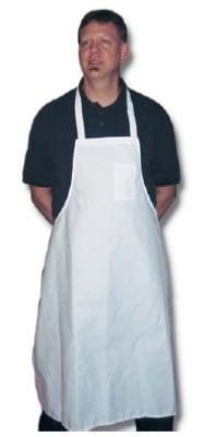 "Intedge 340WSP Oversized Bib Apron w/ Pencil Pocket, 36 x 36"", Poly Cotton, White"