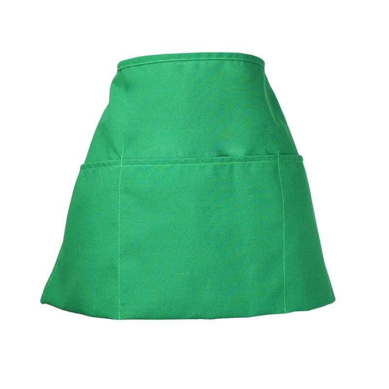 "Intedge 342 G Waist Apron w/ 3-Pockets, 11 x 22"", Green"