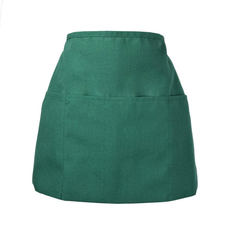 Intedge 342HG Apron Half Waist Hunter Green, 3 Divided Pockets, Polyester
