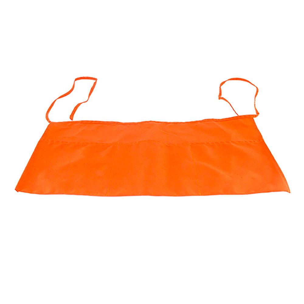 "Intedge 342 OR Waist Apron w/ 3-Pockets, 11 x 22"", Orange"
