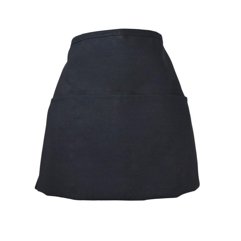 "Intedge 342REV BLK Reversible Waist Apron w/ 3-Pockets, 11 x 22"", Black"