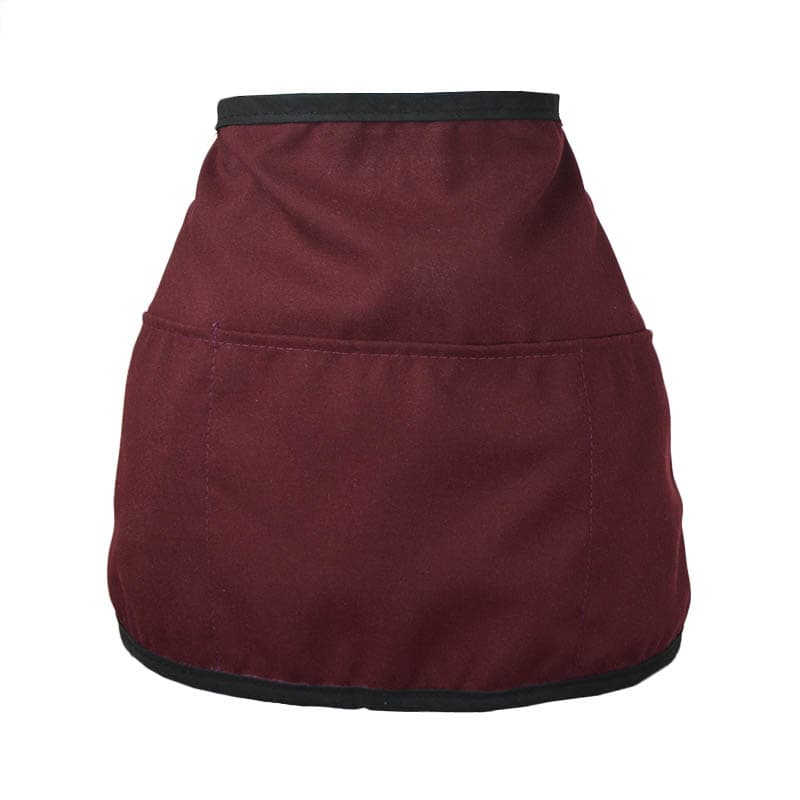 "Intedge 342REV BU Reversible Waist Apron w/ 3-Pockets, 11 x 22"", Burgundy"