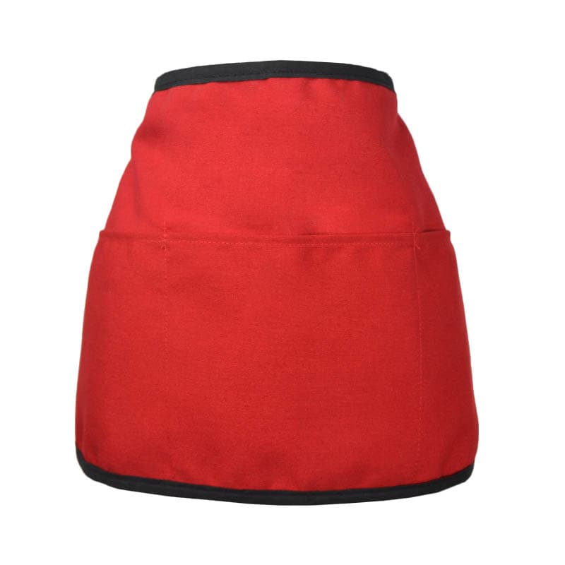 "Intedge 342REV R Reversible Waist Apron w/ 3-Pockets, 11 x 22"", Red"