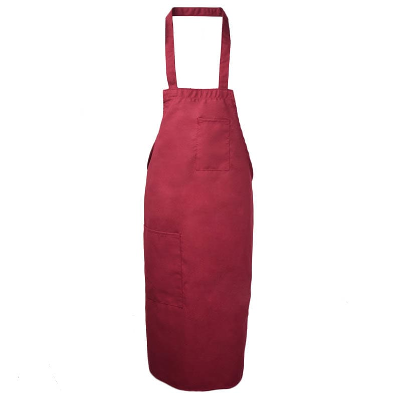 Intedge 343BUR Three Pocket Cobbler Apron, Burgundy