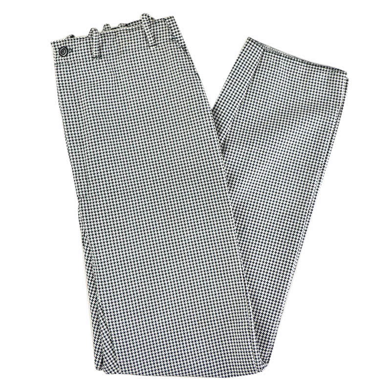 Intedge 34438 Chef Pants, Zipper Fly, Reinforced Crotch, Houndstooth, Size 38