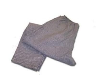 Intedge 344 XL W Chef Pants w/ Elastic Waist, Poly Cotton, X-Large, White