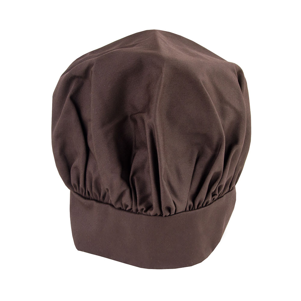 Intedge 346H B Chef Hat w/ Poly Cotton Blend, One Size, Brown