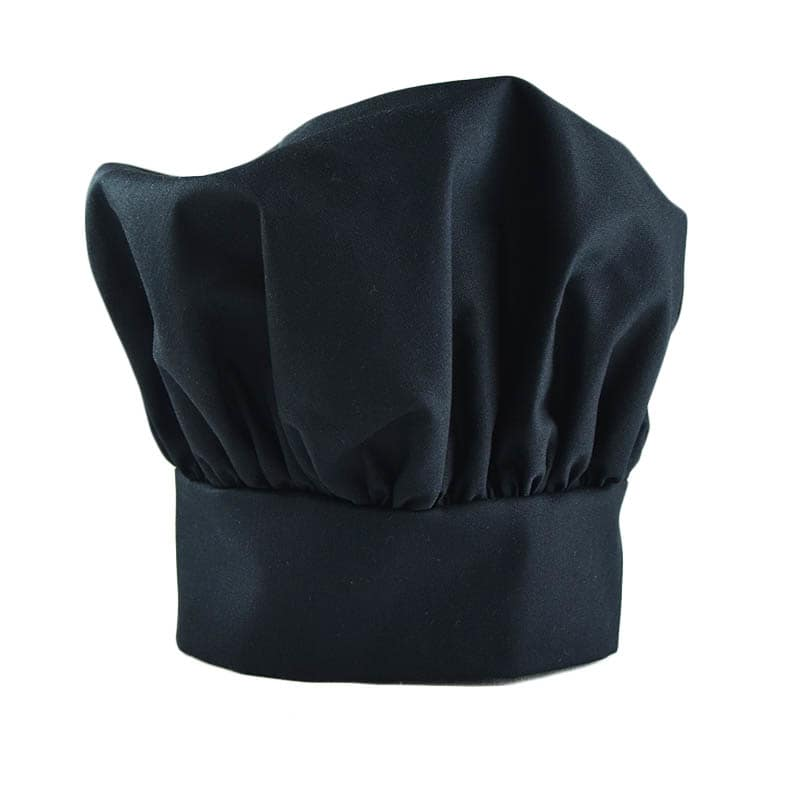 Intedge 346HBLK Classic Chef Hat, Black
