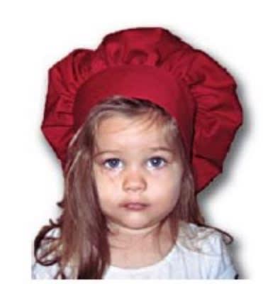 Intedge 346HK LB Kids Chef Hat, One Size, Light Blue