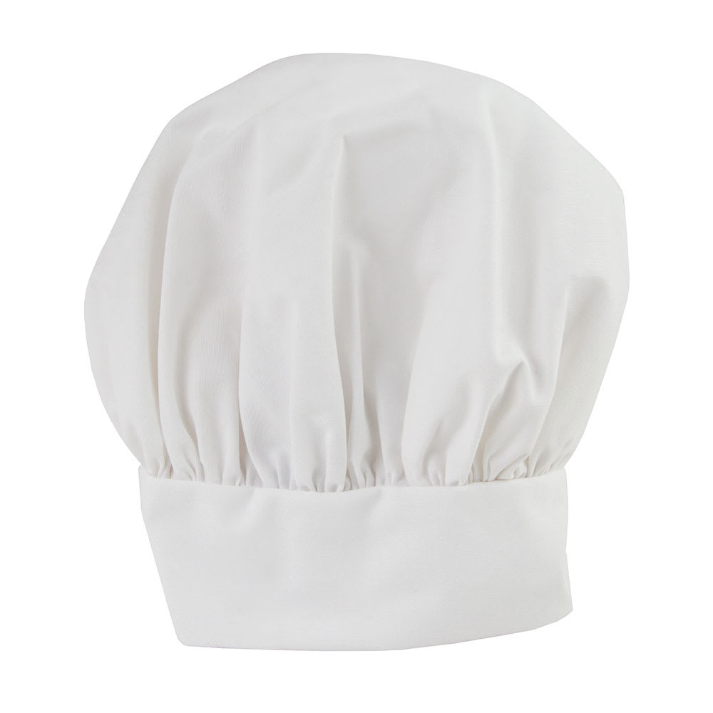 Intedge 346HWH Traditional Professional Chef's Hat, One Size Fits All, Velcro Closure