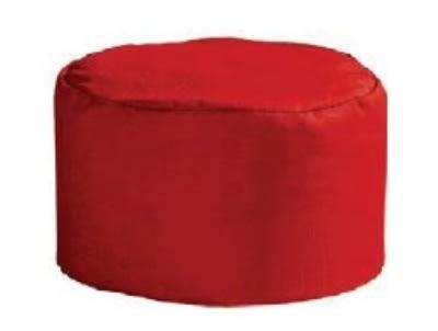 Intedge 346PB BE Pill Box Hat Skull Cap w/ Flat Top, One Size, Beige
