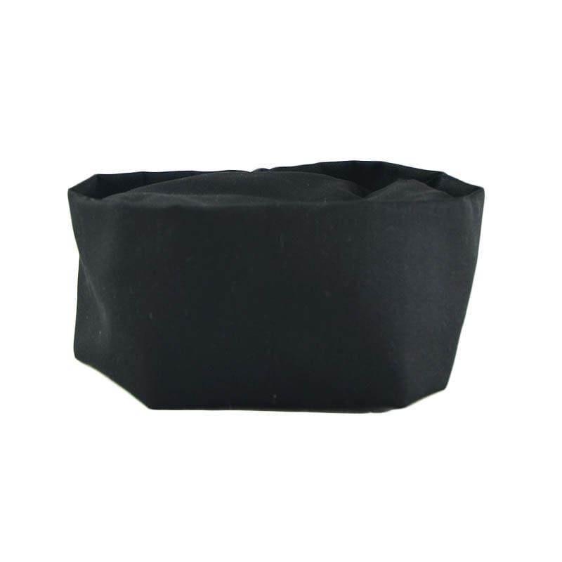 Intedge 346PB BLK Pill Box Hat Skull Cap w/ Flat Top, One Size, Black