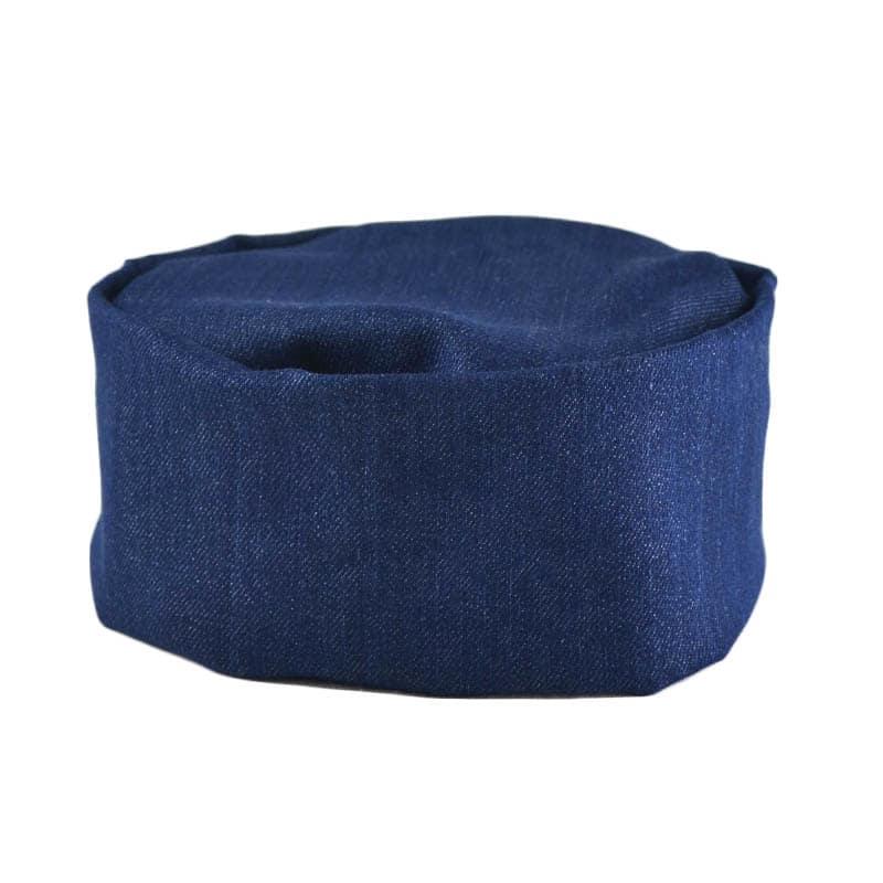 Intedge 346PB D Pill Box Hat Skull Cap w/ Flat Top, One Size, Denim