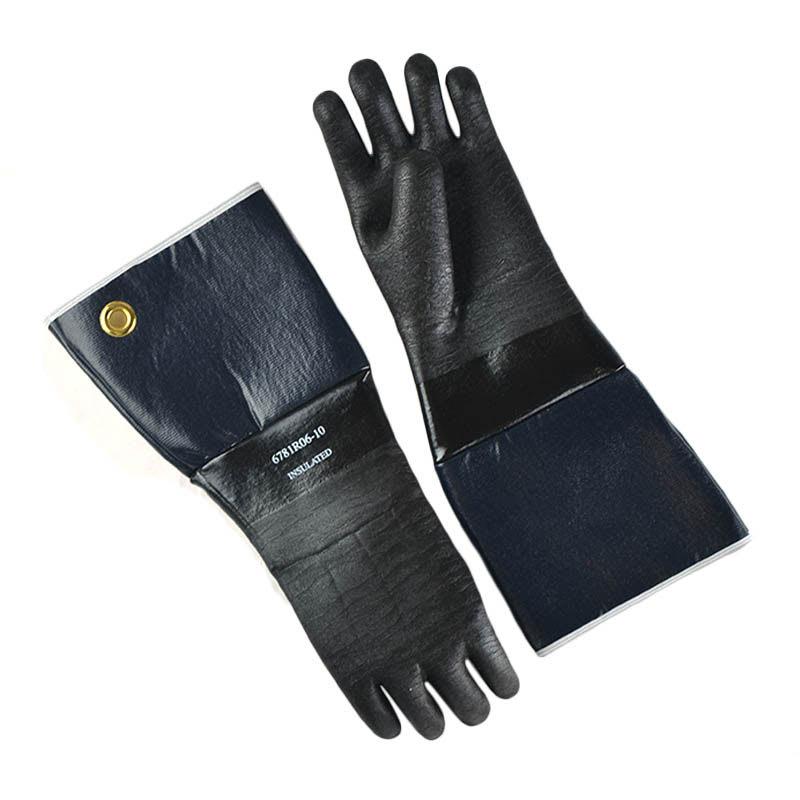 "Intedge 6718IR-06-10 18"" Neoprene Rubber Glove w/ Flocked Lining"