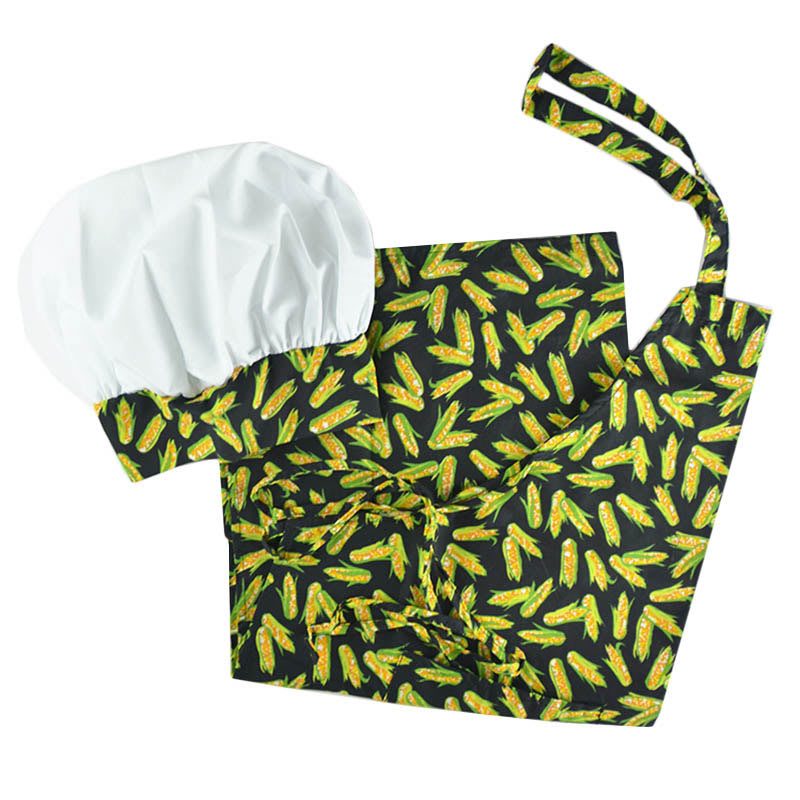 Intedge AHS-10 CORN Apron Hat Set w/ 1 Hip Pocket, Corn Band