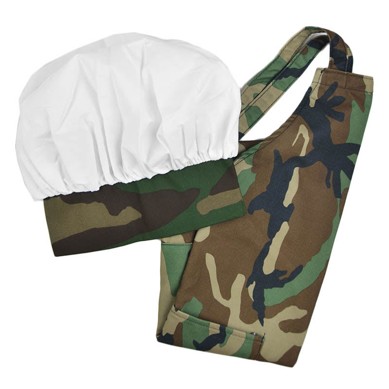 Intedge AHS-1 CAMO Apron Hat Set w/ 1-Hip Pocket, Camo Band